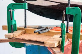 Photo: glueing the skeg box