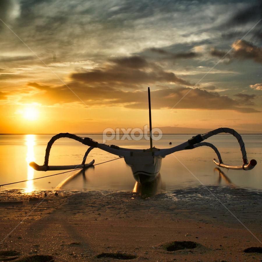 morning sun by Veronique Yang - Transportation Boats