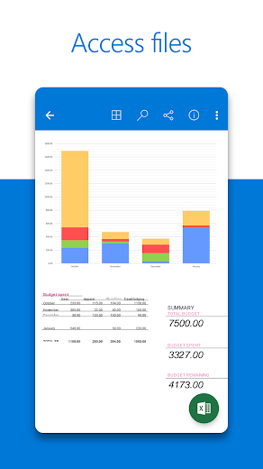 Screenshot 2 for OneDrive's Android app'