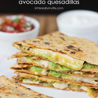 Low-Carb Grilled Chicken & Avocado Quesadillas.