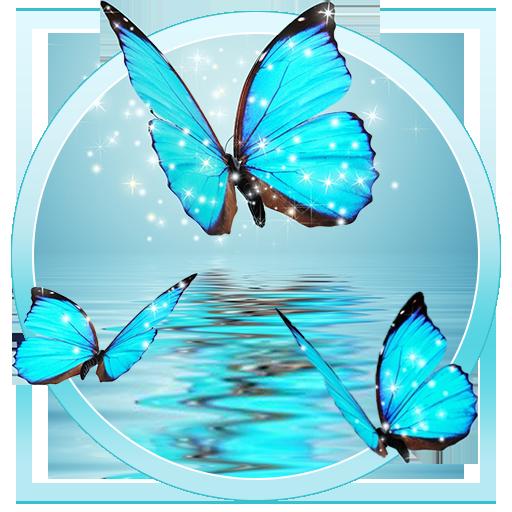 Butterfly Blue Gleam 3d Live Lock Screen Wallpaper Apps On