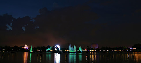 Photo: Spinning globe  I was really enjoying the fireworks part, but it's always fun to try and capture the globe as it's spinning.  I love how the lights on the buildings and the sky all came out in this one.  Tags: #WaltDisneyWorld #Epcot #WorldShowcase #Illuminations   Full size version on Flickr: http://flic.kr/p/dfayJv