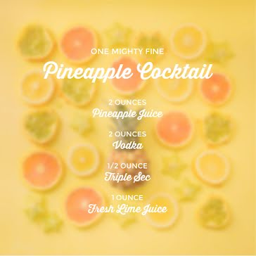Pineapple Cocktail - Instagram Post Template
