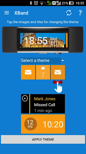 XBand for Microsoft Band screenshot 1