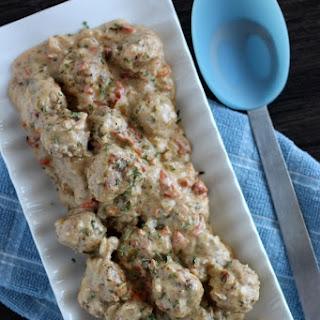 Turkey Meatballs with Sundried Tomato Sauce.