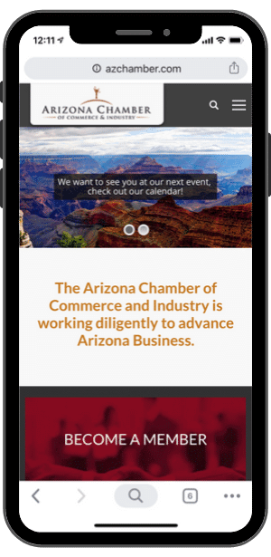 Arizona Chamber of Commerce Website