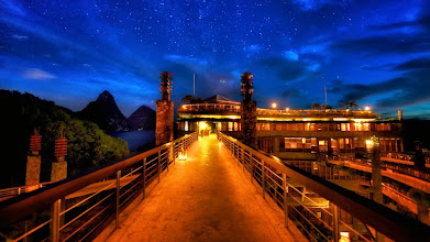 Photo: Jade Mountain Restaurant  This is as close as I ever got to the restaurant. During a few nights of the week in St. Lucia, I'd climb the stairs up here and take some shots, but it was always after sunset.  I really wanted to get a shot inside during one sunset, but it never really seemed to work out with the timing due to all the other activity going on with the workshop.  Maybe on another trip.