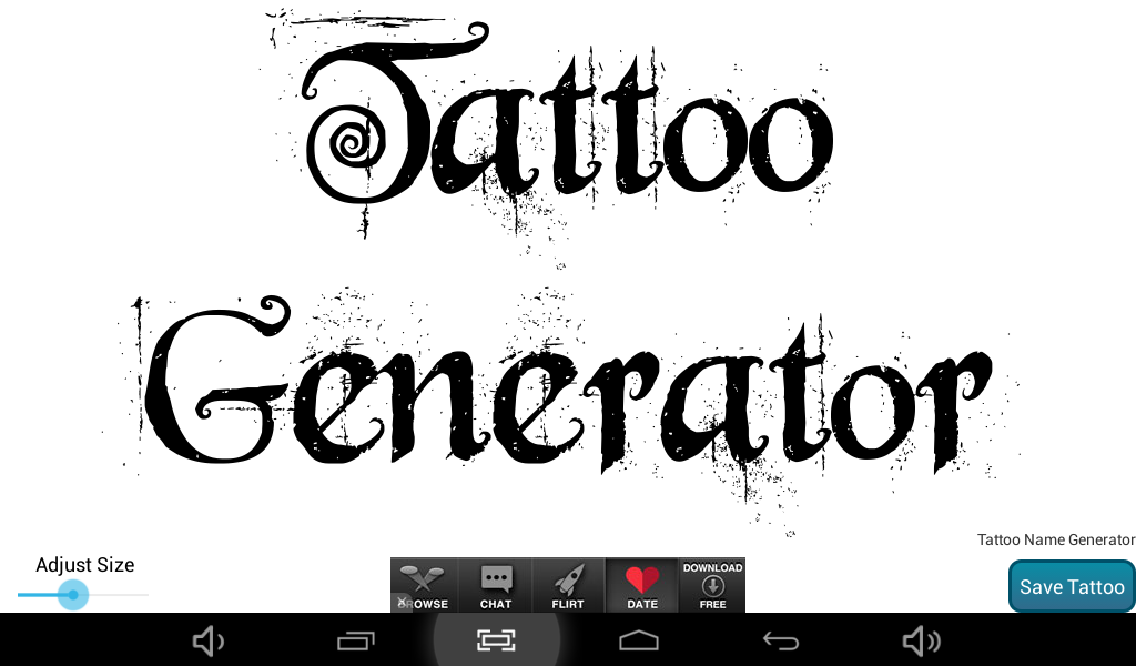 Tattoo Name Design & Generator - Android Apps on Google Play