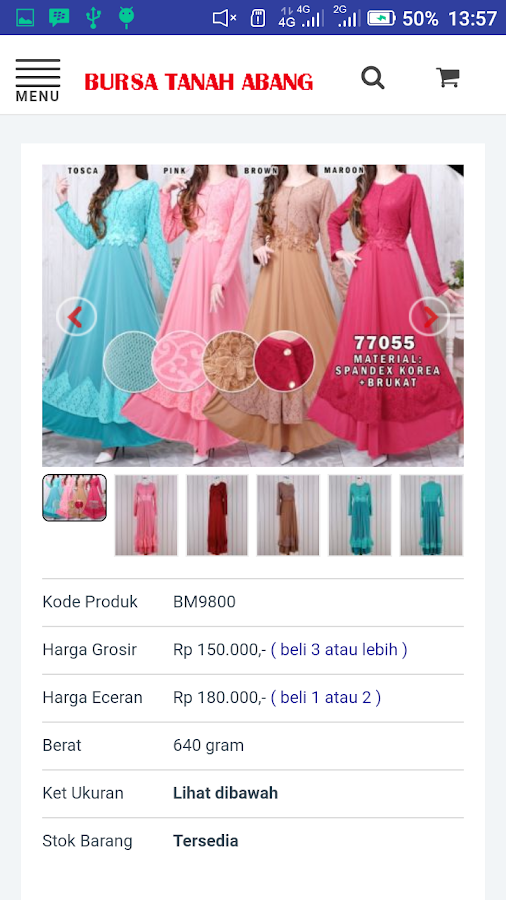 Bursa Tanah Abang Online Shop- screenshot