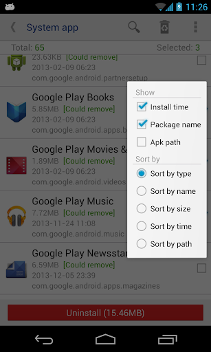 System app remover (ROOT) screenshot 2