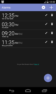Simple Alarm Clock Free screenshot 0