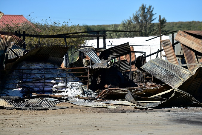 Two citrus stores and a tractor were burned on Tuesday and a store was burned yesterday.