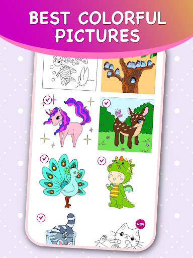Kids Color by Numbers Book with Animated Effects android2mod screenshots 7