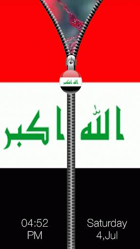 イラク旗ジッパーロック|玩生活App免費|玩APPs