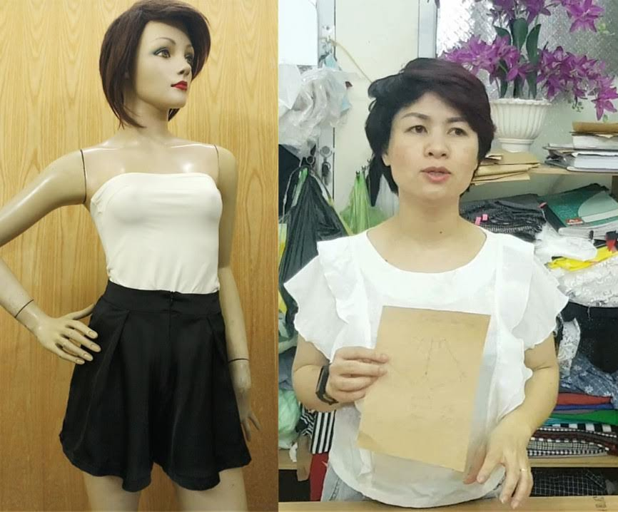 Cách thiết kế Quần Short Váy (Chữ A) Phần 3 thời trang thủy 3