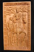 Photo: Copia del cuadro del Greco ''San Martín y el mendigo'' cuyo original se encuentra en la National Gallery of Art (Washington). || Talla en madera. Woodcarving.   Puedes conocer más de este artista en el blog: http://tallaenmadera-woodcarving-esculturas.blogspot.com/