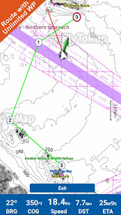 Huron Erie Ontario Lakes GPS Map Navigator - náhled