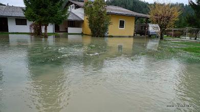 Photo: im lido angekommen haben wir das schreckliche ausmass der überschwemmungen gleich bei der zufahrt zu unserem wohnwagen vor den augen