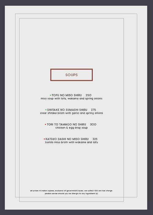 Kampai menu 1