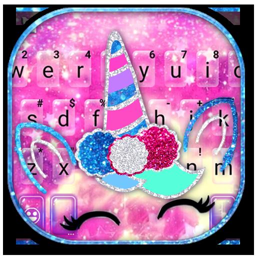Glitter Girly Unicorn Keyboard Theme Icon
