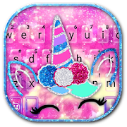 Glitter Girly Unicorn Keyboard Theme