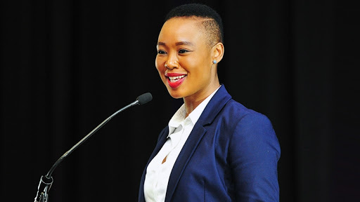 Stella Ndabeni-Abrahams, minister of communications and digital technologies.