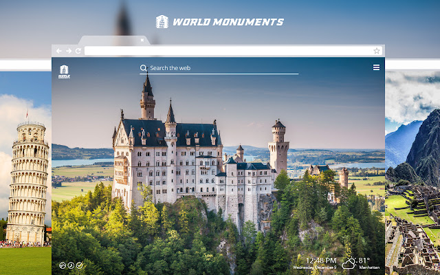 World Monuments HD Wallpapers New Tab Theme