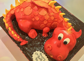 Dragon shaped cake