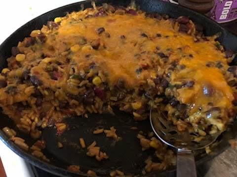 Cheesy Beans & Rice