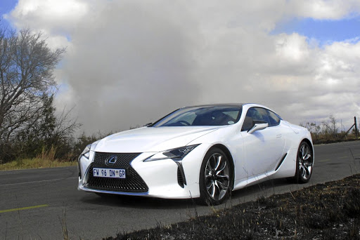 We are in awe of the design of the Lexus LC500. Picture: MARK SMYTH Picture: MARK SMYTH