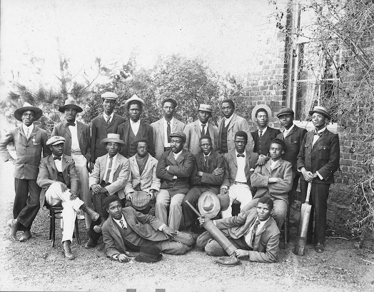 Victorian gentlemen and the Lovedale College cricket team. Picture: SUPPLIED