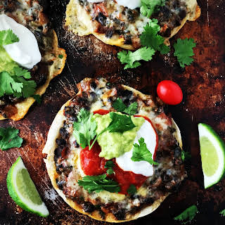 Black Bean Tostadas.