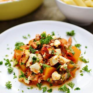 Easy Tuna Bake with Butternut Squash, Spinach and Feta Recipe