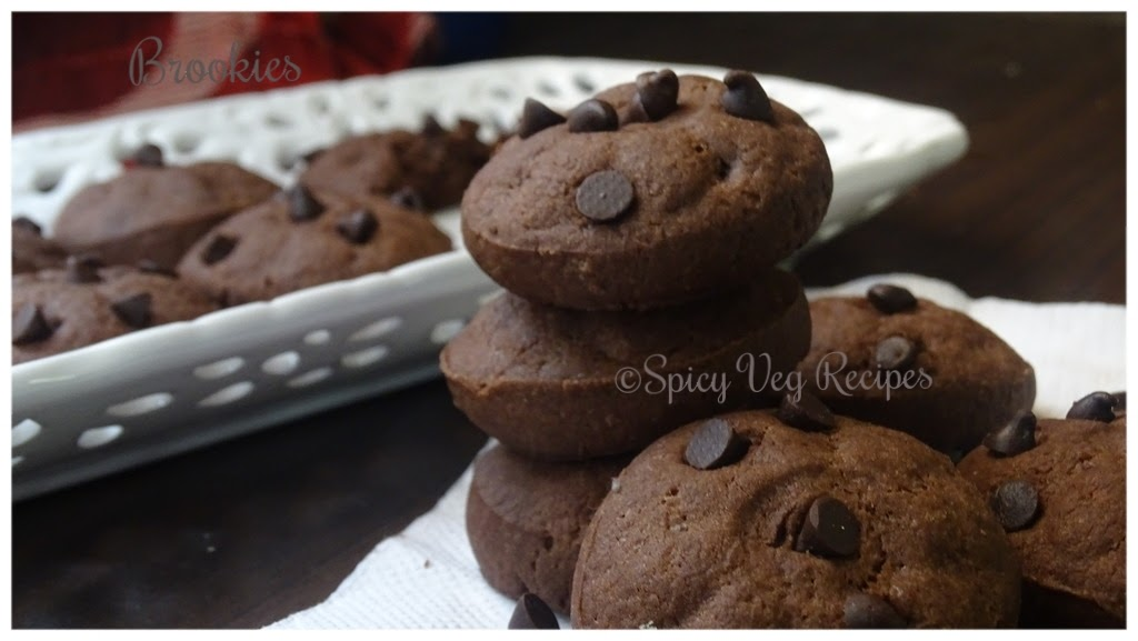 Eggless Soft Chewy Brownie Cookies