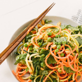 Cold Spiralized Sesame Noodle Salad