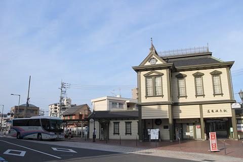 伊予鉄南予バス「道後エクスプレスふくおか号」 5388 道後温泉到着