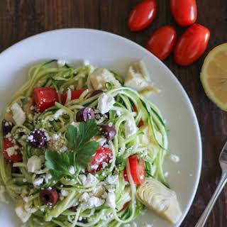 Mediterranean Zucchini Noodle Pasta.