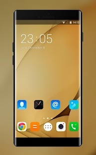 Theme for Lenovo K8 Plus HD: Gold Wallpaper - náhled