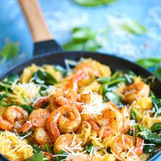 Shrimp Scampi Spaghetti Squash.