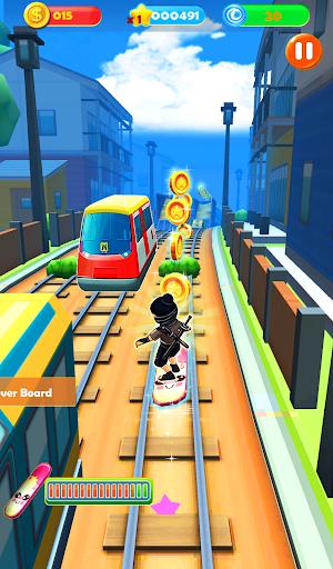 Ninja Subway Surf: Rush Run In City Rail screenshot 7