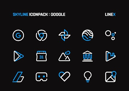 SkyLine Icon Pack : LineX Blue Edition v1.7 [Patched] 5