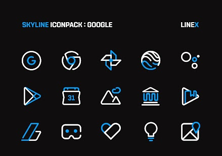 SkyLine Icon Pack : LineX Blue Edition Screenshot