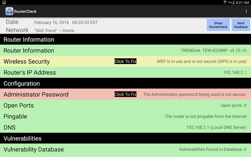 RouterCheck Screenshot 6