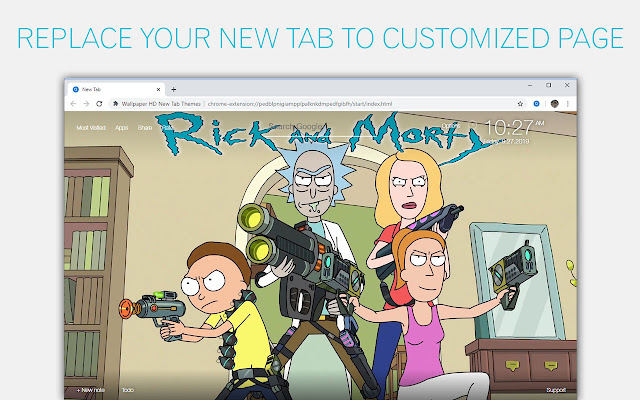Rick And Morty Custom New Tab - freeaddon.com
