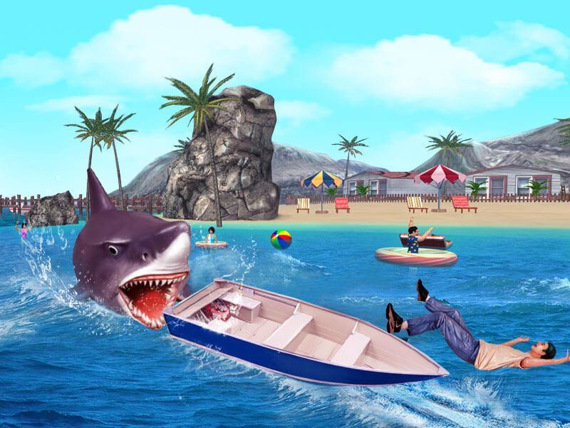 Angry Shark 3D Simulator Game Screenshot