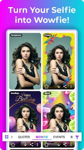 Wowfie - 100% Indian Photo Editor App 1.7.3 screenshots 6
