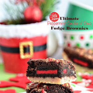 Ultimate Peppermint Cookie n' Oreo Fudge Brownies