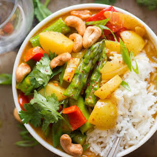Golden Spring Vegetable Thai Curry.