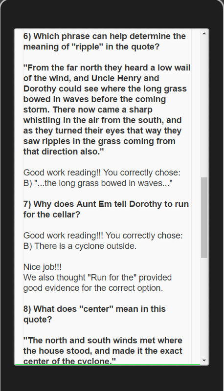 edMe Reading: Wizard of Oz- screenshot