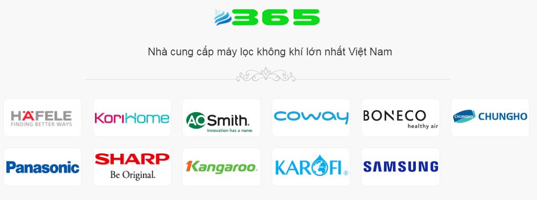 Siêu thị Máy lọc không khí 365 là địa chỉ tin cậy, cung cấp các sản phẩm chính hãng.
